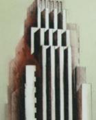 Orange brick and terracotta tower